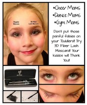 Don't use false eyelashes on your daughters eyes!  Get 3D Fiber Lashes!