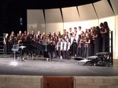 Choir sings at Pearce HS