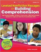Leveled Nonfiction Passages for Building Comprehension