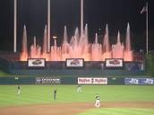 Stadium's waterfall