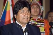 Presidente Evo Morales de la República Plurinacional de Bolivia.