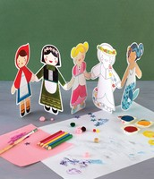 Paper Doll Chain Fairytale