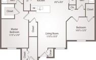 Spacious 2 bedroom 2 bath floor plan
