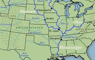 Ohio, Mississippi and Missouri Rivers