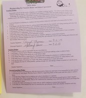 Home and School Reading Agreement