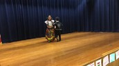 Two Panthers celebrate Multicultural Night w/ traditional dancing!