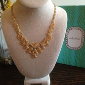 Geneve Lace Bib Necklace