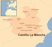 Mapping Castile-La Mancha