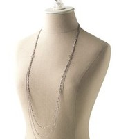 Silver Libby layering necklace $34