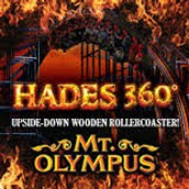 HADES 360 roller coaster at Mount Olympus Water and Theme Park