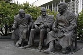 The Monument of Stalin, Churchill, and Roosevelt