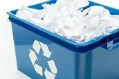 Mettre le papier dans le bac de recycler