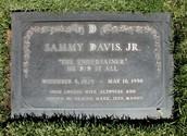 Sammy Davis Jr. headstone