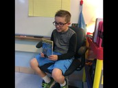 2 students give book talks a day in Room 21!