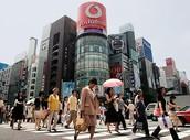 הטופוגרפיה של טוקיו, יפן