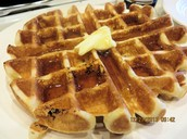 A description of Belgian Waffles.