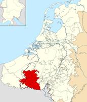 Map of Modern Day Belgium