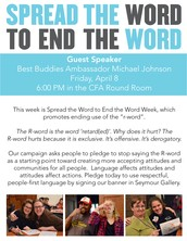 Spread the Word to End the Word Guest Speaker