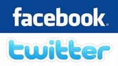 like us on facebook and follow us on twitter
