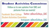 Follow SAC on social media for updates and pictures of the events!