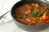 la sopa de verduras 2.99
