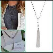 Gitane Tassel Necklace - Silver - SOLD