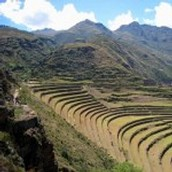 Terraces used for farming.