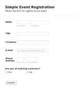 Entry Info.