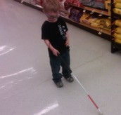 Jonathan at the Grocery Store! (Our Student of the Month)