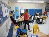 Erika Barker conducting a third grade after school class