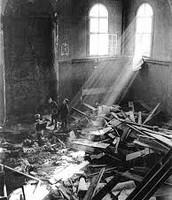 inside of a synagog after kristallnacht