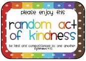 6 Random Acts of Kindness that YOU can do!