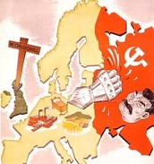 Anti-Bolshevik poster, 'Europe's Victory is Your Prosperity', 1941