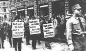 Protesters at Joseph Goebbels speaking