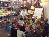 Mr. English stopped by to read his favorite book!!