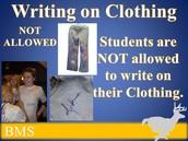 WRITING ON CLOTHING