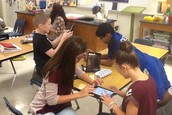 7th Grade Science Students compete using the  NKO Flashcard App!