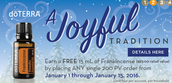 FREE FRANKINCENSE w/ any 200 pv order placed by Jan. 15th!
