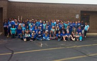C lunch Blue t-shirts!