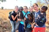 Walking around chongwe village..