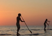 Hmm... Stand up paddle boarding?
