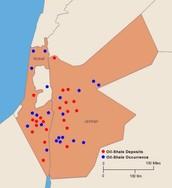 Jordan`s Oil Map