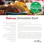 Mexican Shredded Beef - Celebrating Cinco de Mayo!