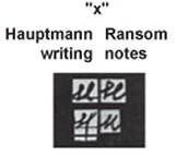 Hauptmann writing vs Ransom Note writing