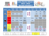 Specials Schedule E (March 21st - May 20th)