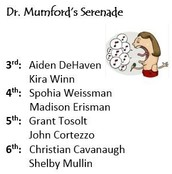Serenade Recipients!