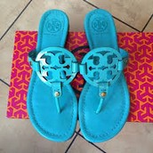 Blue Tory birch Sandals $24.31!