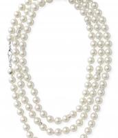 La Coco Pearl & Pave Rope Necklace
