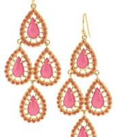 Pink Seychelles Chandelier Earrings