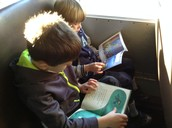 Reading on the bus!